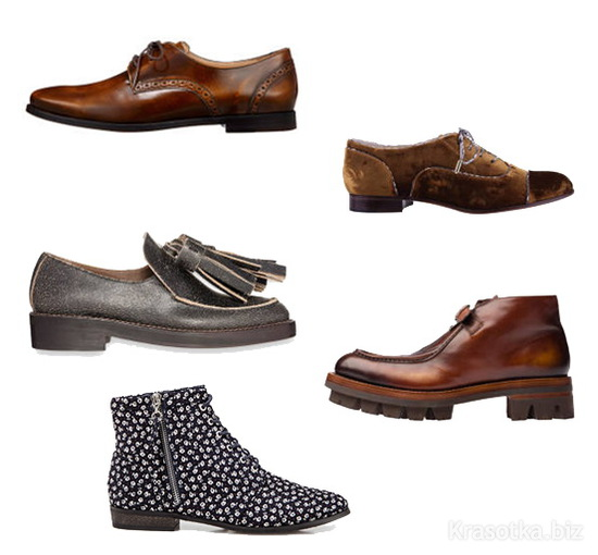 с чем носить обувь на плоской подошве фото